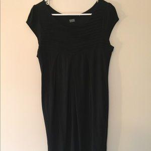 Loose, black, knit Limited dress